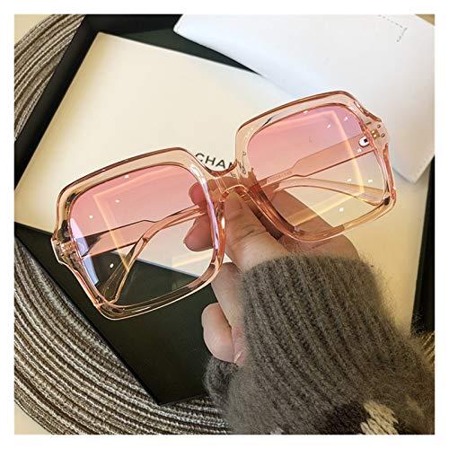 DIOXQEN Diseño clásico Vintage Oversize Square Gafas de Sol Plaza Mujeres Marca de Lujo Mujeres Gafas de Sol Negro Moda Gradiente Gafas Femeninas para Uso en Exteriores (Lenses Color : Pink)