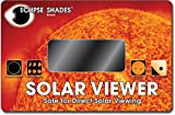 #14 Welder's Glass Solar Eclipse and Sun Viewer-Pleasing Green Image of The Sun - Made in USA
