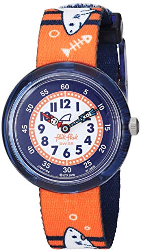 Flik Flak Jungen Analog Quarz Uhr mit Textil Armband FBNP129