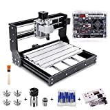 CNC 3018 Pro Engraver Router Machine, Yofuly Upgrade Version GRBL Control DIY Mini CNC Machine, 3 Axis PCB Milling Machine with Offline Controller, with ER11 and 5mm Extension Rod