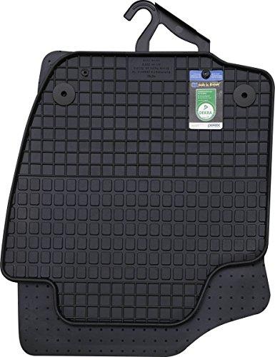 PETEX Gummimatten passend für Rapid ab 10/2012 / Rapid Spaceback ab 10/2013 Fußmatten schwarz 4-teilig