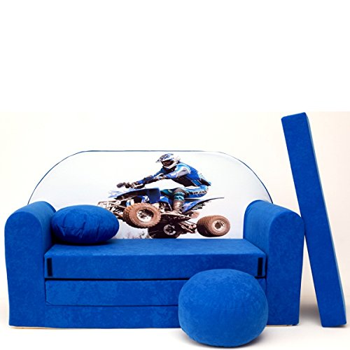 Welox Kindersofa Spielsofa Minicouch aus Schaum Kindersessel Kissen Matratze Farbwahl (C26)