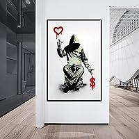 CHBOEN キャンバス絵画家の装飾 壁のアートポスターとプリントの抽象的なストリートアートキャンバスPainitngs家の壁の装飾Cuadrosのための落書きアートの写真 60x90cm(23.6x35.5インチ)
