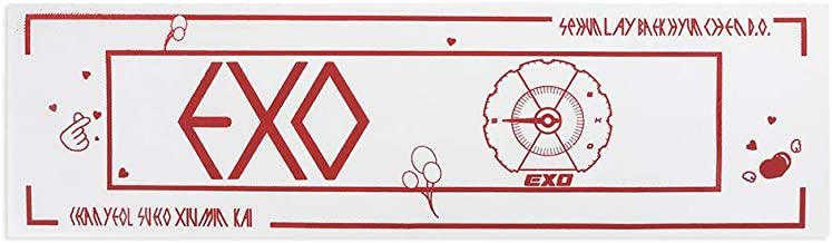 Hosston Kpop Support Banner, Kpop EXO Cute Cartoon Nonwoven Support Banner Hang Poster Concert Airport Hand Banner Fans Support Gift for A.R.M.Y(Style 10)