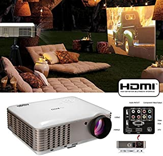 EUG X88 3900lumens Video Projectors 1080p Full HD LCD LED Image System Home Theater Cinema Projector HDMI VGA AV USB Audio...