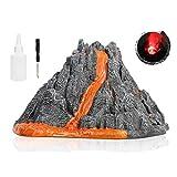 Simulation Vulkan Modell Spray Red Light Zug Dinosaurier Modell Spielzeug-Zubehör -