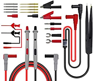 Premium Test Leads Set, Digital Multimeter Leads Kit Multimeter Probes Electronic Multimeter Test Leads with SMD Clips, Al...