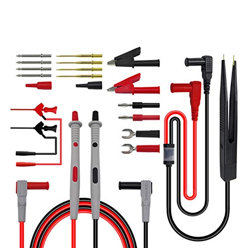 Premium Test Leads Set, Digital Multimeter Leads Kit Multimeter Probes Electronic Multimeter Test Leads with SMD Clips, Alligator Clips