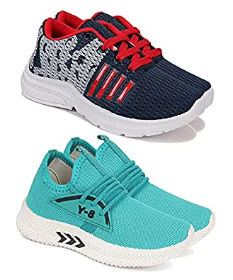Camfoot Comfortable Pack of 2 Multicolor Collection of Sports Shoes for Kids & Boys (9266-1657)