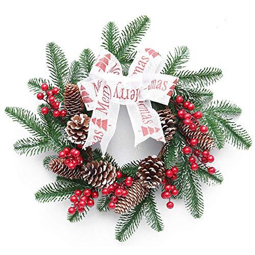 Christmas Decoration Red Fruit PE Christmas Wreath Christmas Rattan Horn Vine Hotel Window Door Decoration Pendant