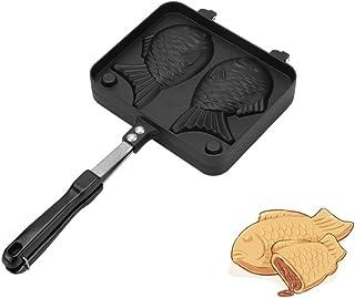 Yosoo Assiette Taiyaki en Forme de Poisson Poêle en Alliage d'aluminium Japonais Casserole Pochoir à Gâteau DIY Moule de G...