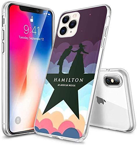 Compatible with iPhone Case Transparent Soft TPU Flexible Corver Case SE 2020/7/8 Cover Hamilton Broadway Alex and Eliza Dance Clouds Case