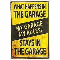 マイガレージマイルール 金属板ブリキ看板警告サイン注意サイン表示パネル情報サイン金属安全サイン