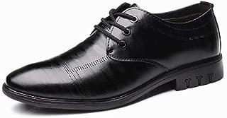 Shangruiqi Men's Business Oxford Casual Comfortable Soft Lightweight Simple Formal Shoes Abrasion Resistant (Color : Black, Size : 6 UK)