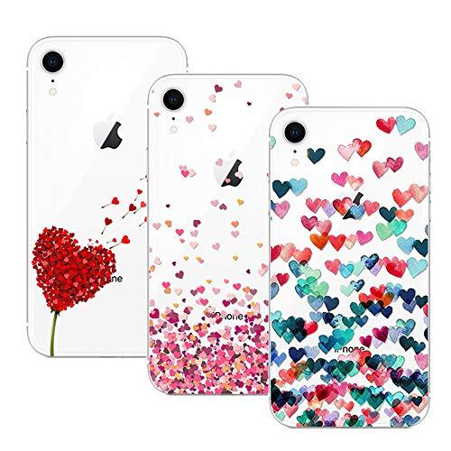 Young & Ming Compatible per Cover iPhone XR, [3 Pack] Trasparente La Protezione Superiore Leggero Sottile Silicone Premium TPU Case, Color 1
