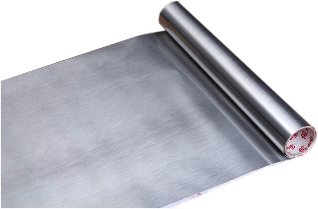 Revestimiento de vinilo autoadhesivo de acero inoxidable cepillado para protección contra salpicaduras, para horno, lavavajillas, aparatos de la despensa o electrodomésticos (sólo despegar y pegar)