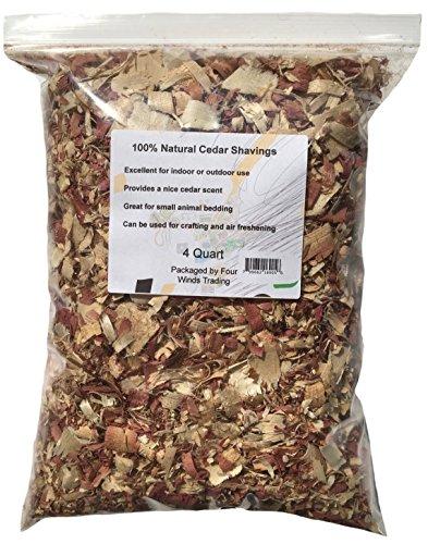 100% Natural Cedar Shavings (4 quart)
