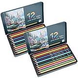 Lápices de dibujo, juego de lápices de colores, profesionales profesionales duraderos de 12 piezas para estudiantes