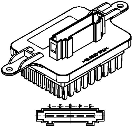 Mahle CR 287 000S Regulador de Ventilador C y Resistencia