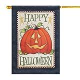 LAYOER Home Garden Flag House Double Sided Happy Halloween Pumpkin (28 x 40 Inch)