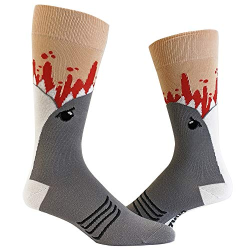 Shark Attack Socks Funny Jaws Funny Sayings Crazy Cool Gag Gift Novelty Funky