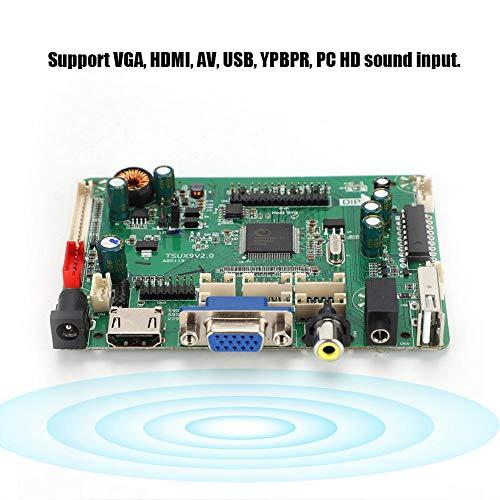 ASHATA-LCD-controller-kaart, V2.0-PCB-LCD-controller-driverkaart met HDMI + AV + USB-interface 1920 x 1080, HDMI-audio-LCD-controller-kaart, ondersteuning voor VGA -, HDMI-, AV-, USB