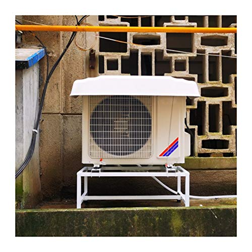 LSXIAO Reforzado Aire Acondicionado Cubrir, Al Aire Libre Cubierta De La Unidad, Marquesina De Plástico, 0,4 Mm De Espesor A Prueba De La Intemperie con 2 Cables De Acero