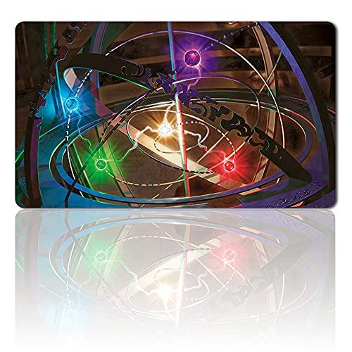 Playmats - Sphère armillaire - Jeu de société MTG - Tapis de jeu - Taille 60 x 35 cm - Tapis de souris pour Yugioh Pokémon Magic The Gathering