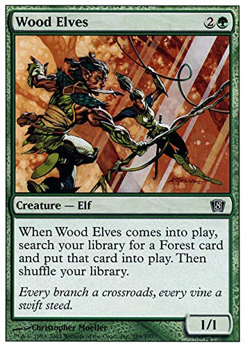 Magic The Gathering - Wood Elves - Eighth Edition