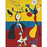 DXNB Famoso Joan Miro Acuarela Abstracta Pintura en Lienzo Carteles e Impresiones Cuadros Cuadro de Arte de Pared para Sala de Estar Decoración del hogar 60X80cm Sin Marco 5