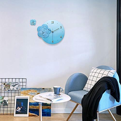 Reloj de pared – Epoxy Pottery/Metal Puntero/Personalidad/Home/Reloj, Moda Reloj de pared Salón Dormitorio Creative Reloj de pared (40 x 35 cm) Mereces tener