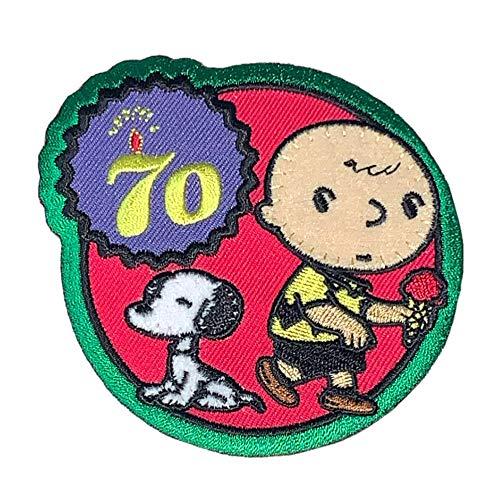 ワッペン PEANUTS スヌーピー (アイス) SNOOPY 70th 犬 チャーリーブラウン グッズ キャラクター USJ 男の子 女の子
