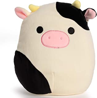 Moo Cow Plush Toy Pillow Super Soft Cushion Stuffed Animal Round Cow Doll