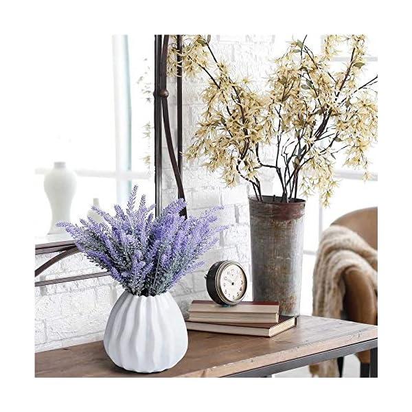 Mu Mianhua – Ramo de flores artificiales de lavanda para decoración de bodas, hogar, oficina, jardín, patio, 20 paquetes
