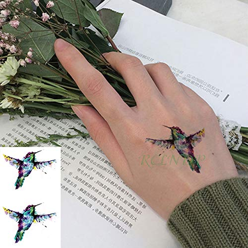 tzxdbh Etiqueta engomada del Tatuaje a Prueba de Agua búho Tatto pájaro Animal Tatoo Eclipse Tatuajes para Hombres Mujeres en Tatuajes de Brown