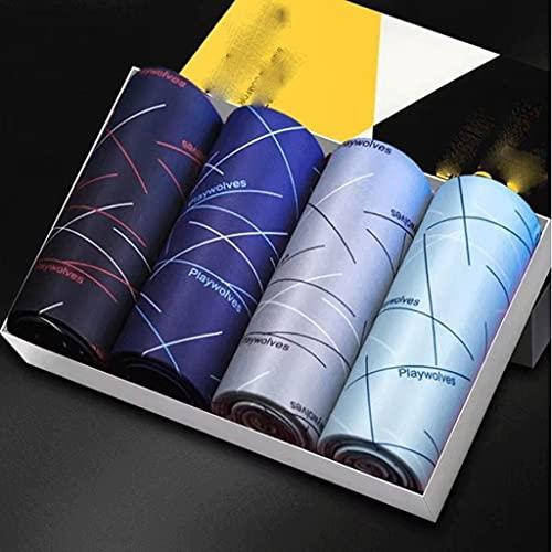 CHYSP メンズ下着ボクサー男性通気性パンティーセクシーなプリントショーツファッションソフト快適なパンツプラスサイズL-4XL (Size : 4XL 80-85KG, Style : Style two)
