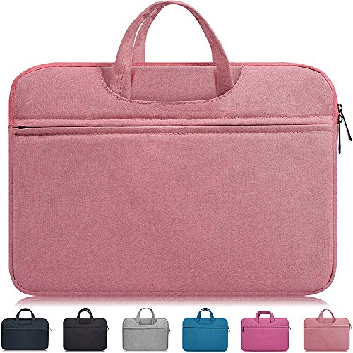 15.6 Inch Waterpoof Laptop Sleeve Bag,Girl/Lady Handbags Portable Briefcase Fit Acer Chromebook 15.6',Dell Inspiron 15,Lenovo Yoga 720 15.6,HP 15.6 inch Laptop,Acer MSI Samsung ASUS Notebook Case,Pink