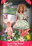 Barbie Easter Egg Party and Kelly Gift Set + Fun Easter Scene with Re-Usable Vinyl Stickers