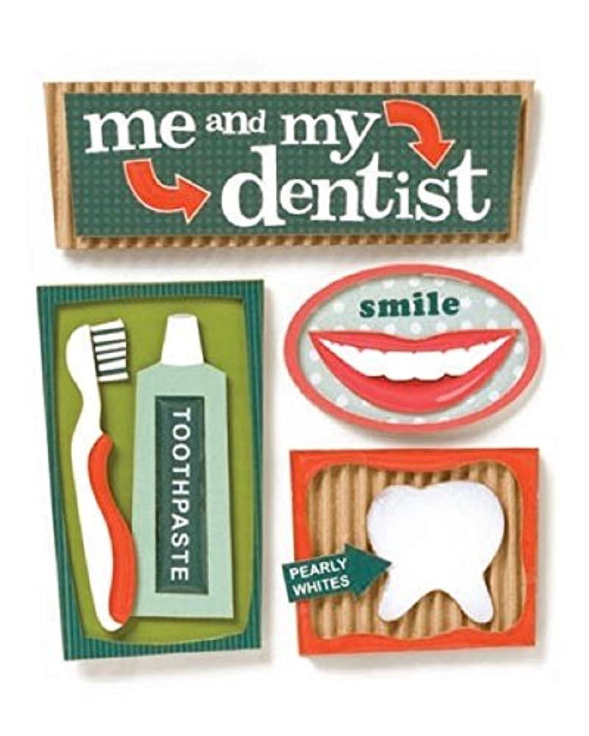 KAREN FOSTER Design Stacked Stickers, Dentist, 12 x 12