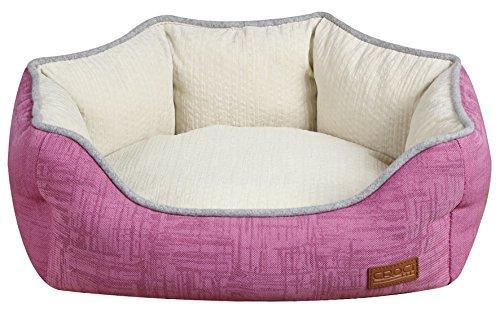CROCI Corbeille Ovale pour Chien Cozy Pink 85 x 66 x 23 cm