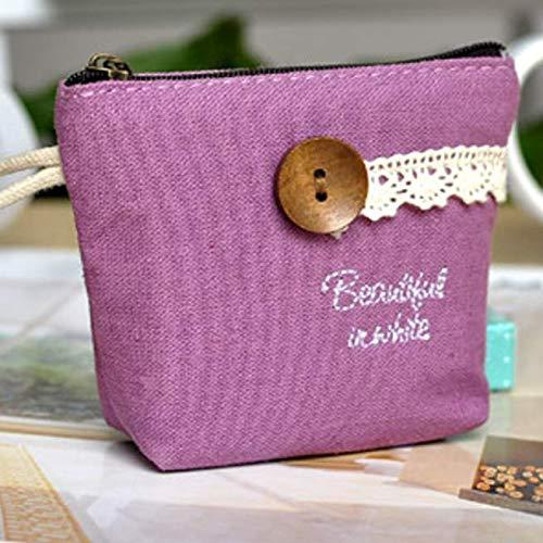 Coin Wallet Dames Portemonnees Kleine Eenvoudige Portemonnee Wallet Pouch Met Ring Purse Pouch Met Sluiting Schattig Meisje Portemonnee pink