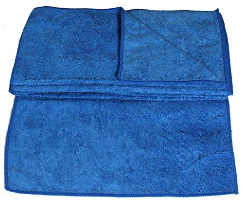 10 Stück Mikrofasertücher 30 x 30 cm blau Reinigungstücher für Haushalt und Autopflege Microfasertuch