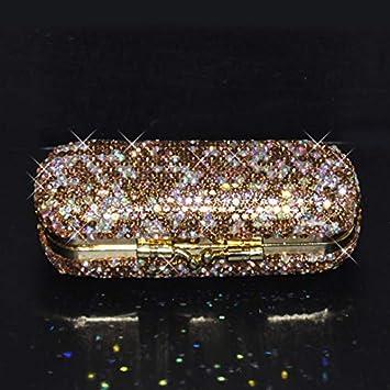 Amazon Com Bestbling Bling Rhinestone Crystal Lipstick Case Holder Organizer Bag Cosmetic Storage For Women S Lipstick Jewelry Kit Red Beauty
