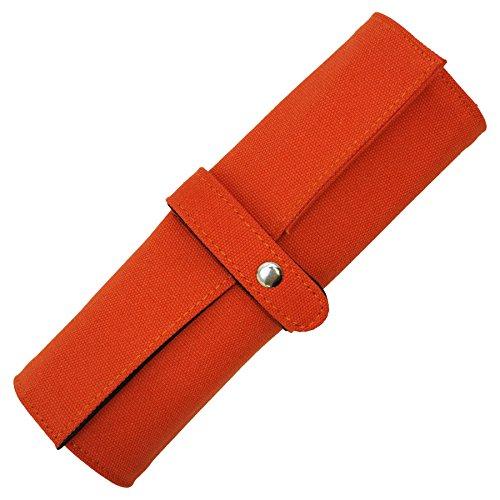 ロールペンケース 帆布 【オレンジ】 500131-144