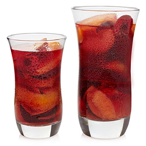 Libbey Martello 16-Piece Tumbler and Highball Glass Set