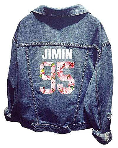 SERAPHY Unisexe Kpop Pull Veste en Jean Sweats à Capuche pour Army Pulls Suga Jin Jimin Jung Kook J-Hope Rap-Monster V H-95j
