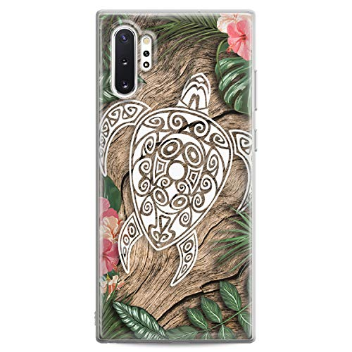 Cavka TPU Case for Samsung Galaxy A91 A70 A51 A50 A40 A30 A20e A11 A10 A8 Flexible Silicone Print Girls Green Women White Paint Clear Leaves Art Slim fit Turtle Soft Lightweight Design Gift Wooden