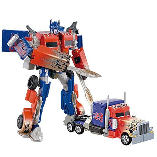ZHJNBY Transformer Juguete Figura de Acción Optimus Prime, Cambia a Camión de Juguete, Juguetes para niños de 5 años en adelante, 13, 7 Pulgadas
