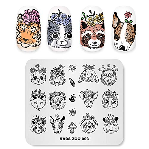 KADS Nail Art Stamp Template Animal Panda Pattern Cute Design Image Plate Stamping Plate for Nail Art DIY Tool for Manicure(ZO003)