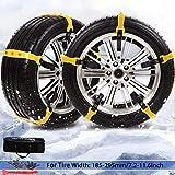 PrettyQueen SUV Car Snow Chains for Trucks Cars Snow Tire Chains for SUV Anti Slip Tire Chain Adjustable Snow...